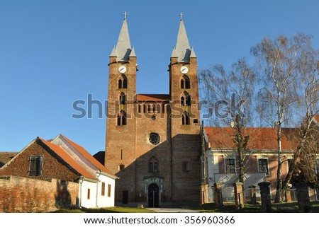 old church in area of Heviz,Hungary - stock photo