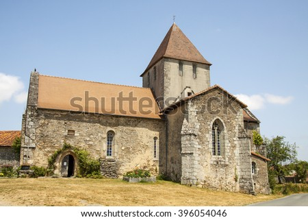 Old church in france for background use - stock photo