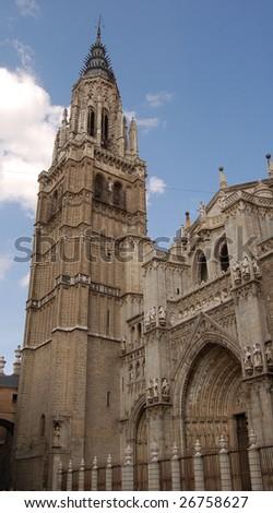 old church in toledo, spain - stock photo