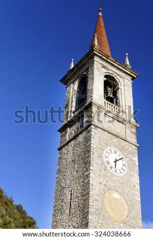 Old church in Varenna town Lake Como,Italy. - stock photo