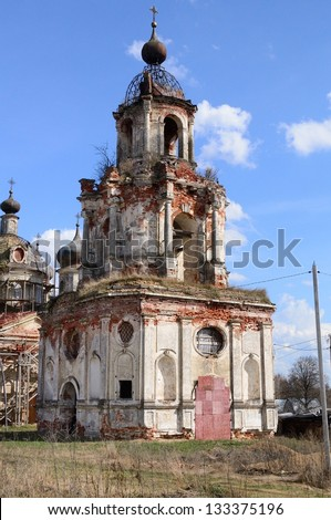 Old church of the Moscow area, Russia - stock photo