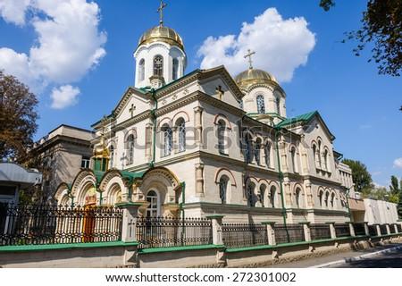 Old Church of Transfiguration in Chisinau, Moldova - stock photo