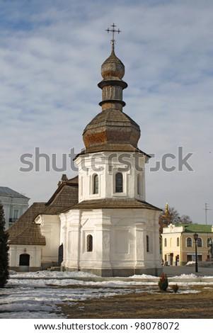 Old church on the territory of Monastery in Kiev, Ukraine - stock photo
