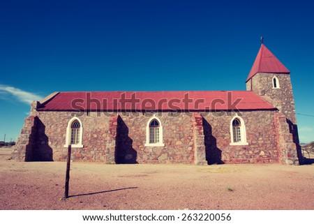 Old church. Shot in Warmbad, Namibia.  - stock photo