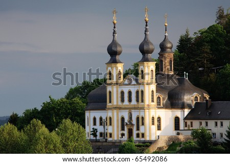 Old church Wurzburg, Bavaria - stock photo