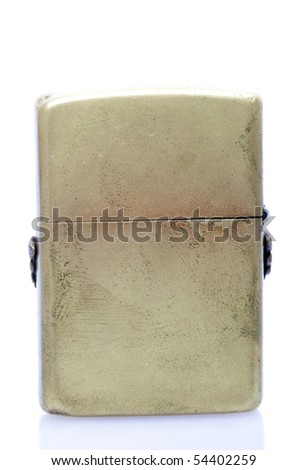 Old Cigarette Lighter On Isolated White Background - stock photo