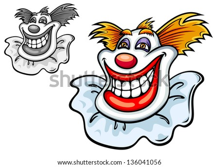 Old circus clown in cartoon style for entertainment design. Vector version also available in gallery