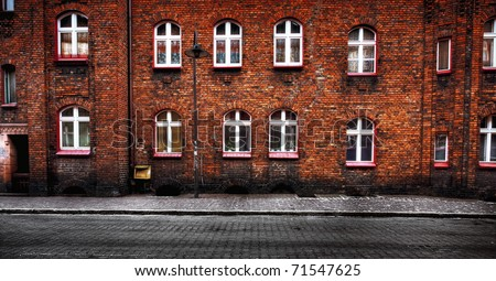 Old city architecture - stock photo