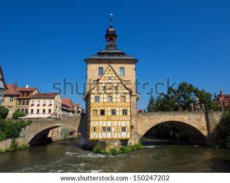 Old city hall in Bamberg/Germany - stock photo