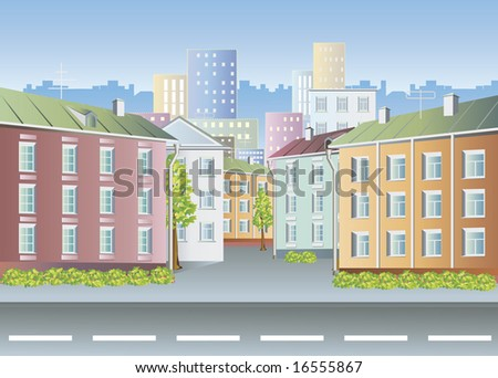 Old city. Houses. - stock photo