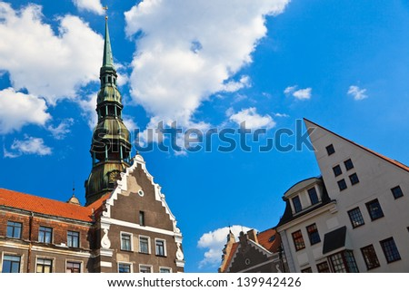 Old city in Riga, Latvia - stock photo