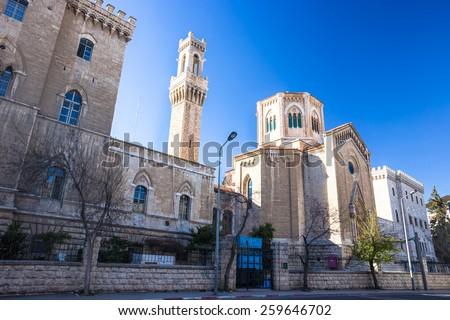 Old city Jerusalem - stock photo
