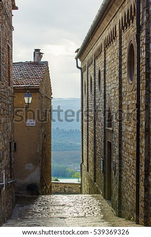 Old city of Barberino in Tuscany