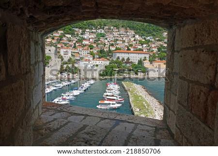 Old city of Dubrovnik in Croatia - stock photo