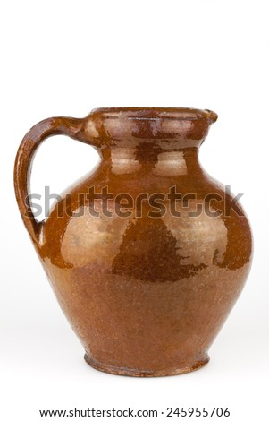 Old  clay jug - stock photo