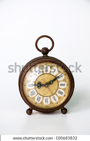 Old clock. - stock photo