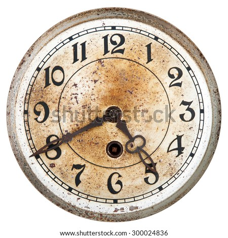 Old clock dial - stock photo