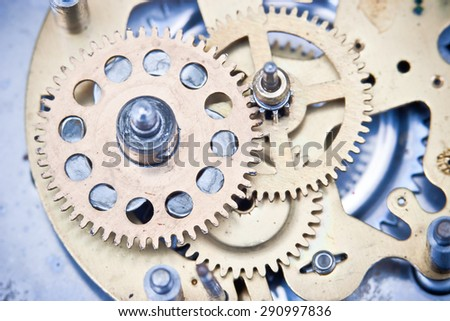 Old clock mechanism - stock photo