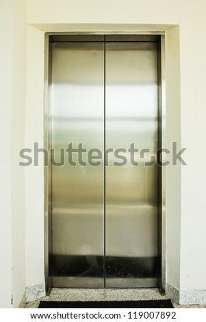 old closed elevator