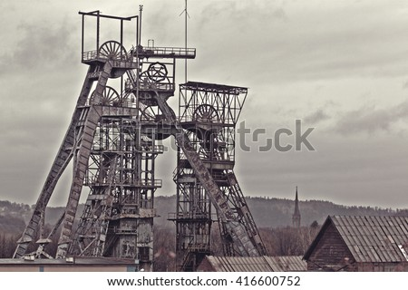 Old coal mine - stock photo