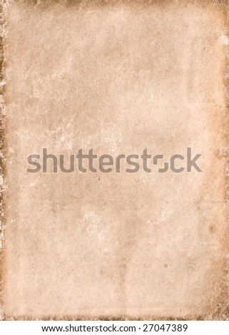 old collapsing paper with cracks and scratches - stock photo