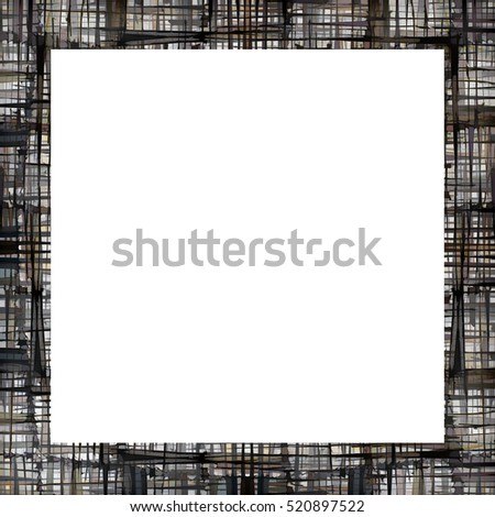 Old color grunge vintage weathered frame with abstract antique texture and retro pattern. Empty space for image or text. 1:1 aspect ratio