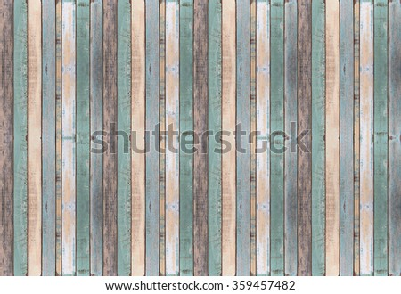 Old color wood plank texture and background - stock photo