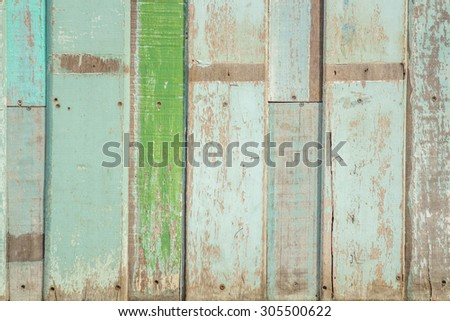 Old colorful vintage wood wallpaper background. - stock photo