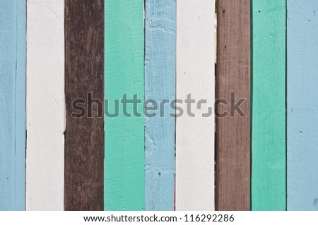 Old colorful wooden wall