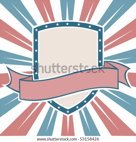 Old Colors American Shield - stock photo