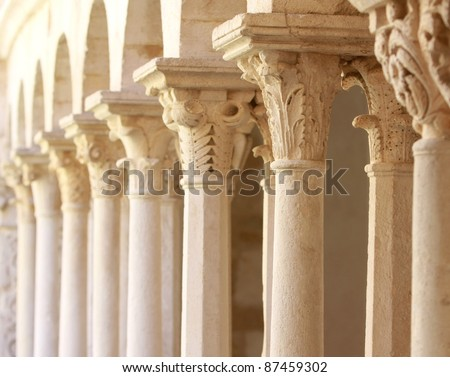 old columns. - stock photo
