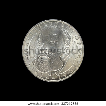 Old commemorative silver coins Germany 5 Deutschmark. Max Joseph Pettenkofer 1818-1901.