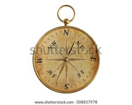 Old Compass Stock Illustration 308837978