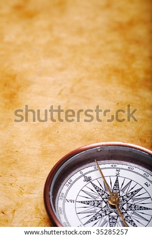 Old compass - stock photo
