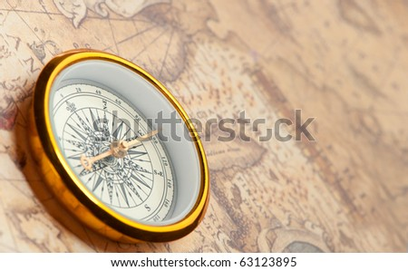 Old Map Compass Stock Images RoyaltyFree Images Vectors - Antiques us maps with compass