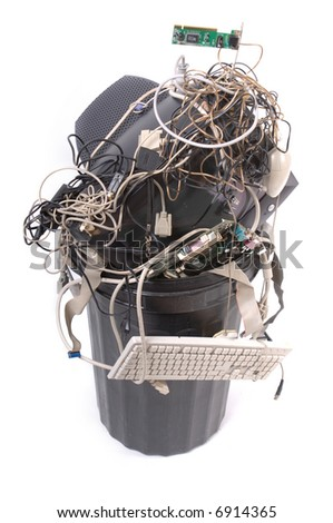 Old computer parts - stock photo