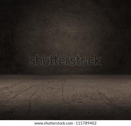 Old Concrete Room, Indoor - stock photo