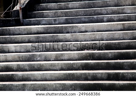 Old concrete step  - stock photo