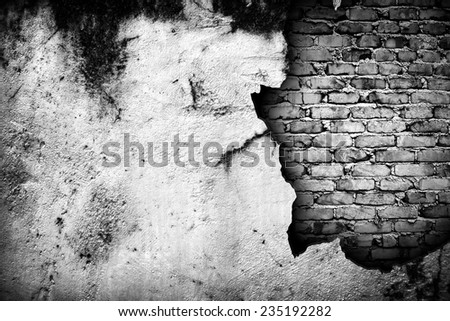 old concrete wall - stock photo