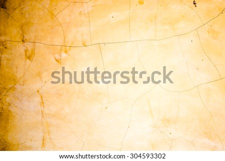 old concrete yellow color wall background texture - stock photo