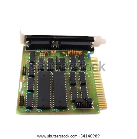 Old controller card for computer.