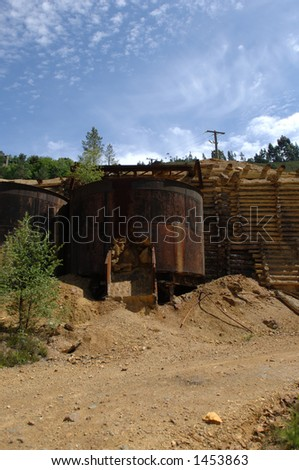 Old Copper Mine - stock photo