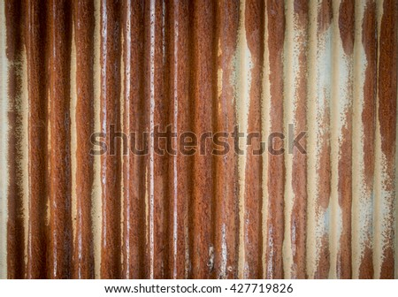 old corrugated rusty metal for background - stock photo
