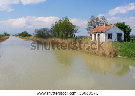 old cottage by the river, Ferto-Hansag National Park, Hungary