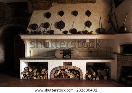 Old country kitchen. - stock photo