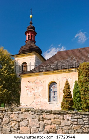 Old countryside church under Bezdez castle