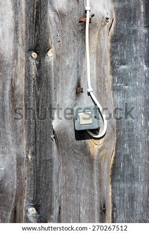 old countryside house wooden wall details and close-up
