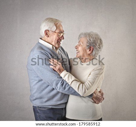 old couple - stock photo