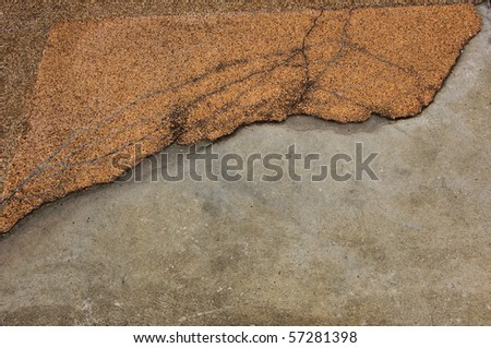 Old crack brick wall - stock photo