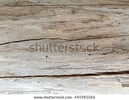 Old crack wood for texture background
